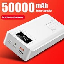 2020 New Power Bank External Battery PoverBank 2 USB LED Powerbank Type-c Portable Mobile