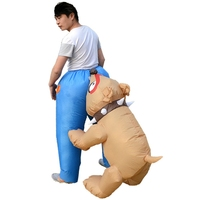 Dog Bite Ass Adults Inflatable Costumes Holiday Carnival Costume Funny Party Dress Animal Cosply Halloween Clothes For Adults H1