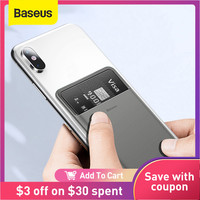 Baseus-funda trasera con ranuras para tarjetas para iPhone, carcasa de silicona con pegatina 3M, Teléfono Universal, para iPhone 12, 11Pro, Max, X, Samsung