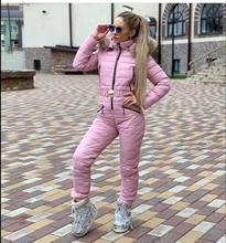 Women Winter Parka Fashion Slim Jumpsuits Coat Hooded Real Fur Collar Warm Snow Jacket Belt New