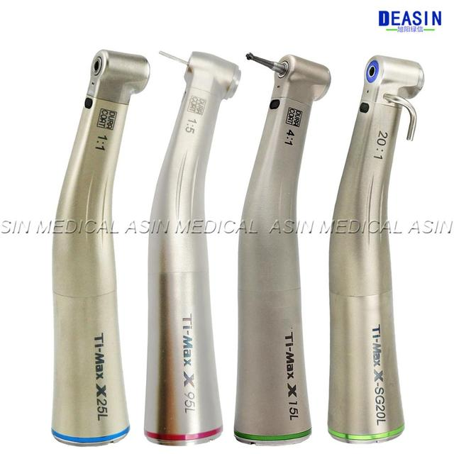 1 pcs x Dental Fiber Optical LED Contra Angle Ti max Low Speed Handpiece 1:5  1:1 20:1 1:4.2 dental handpiece