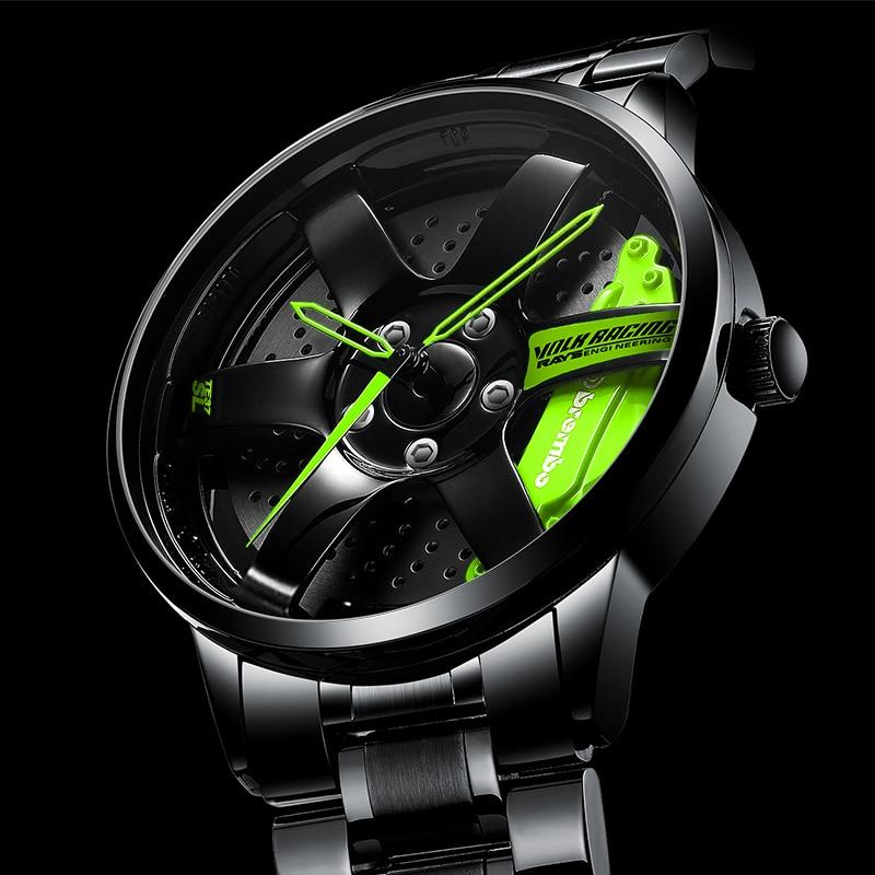 NIBOSI Fashion Wheel Rim Hub Watch Custom Design Sport Car Rim Creative Watches Man Wrist Watch