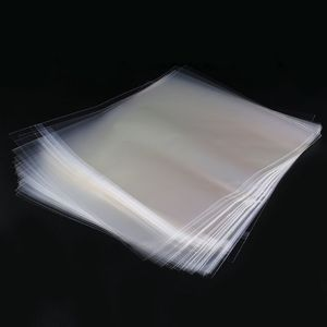 """Image 3 - 50pcs 12 """"PE ויניל שיא LP LD שיא פלסטיק שקיות אנטי סטטי שיא שרוולים חיצוני פנימי פלסטיק ברור כיסוי מיכל"""