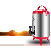 Cleaning Buckets Bucket Magic Cleaner 304 Stainless Steel Double-Layer Insulation Barrel Container For Hot Water Milk Tea