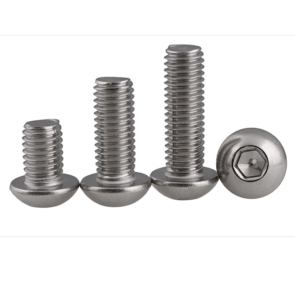uxcell M4x12mm Stainless Steel Hex Socket Set Cup Point Grub Screws Silver Tone 50pcs