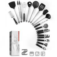 Cookware Set 16 pcs Sets of Multi Functional Kitchen Gadget Cooking Silicone Kitchenware Spatula Bottle Opener
