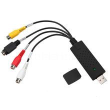 Kebidumei USB 2,0 a adaptador usb RCA convertidor de Audio y vídeo de tarjeta de captura adaptador de CableS de PC para TV DVD dispositivo de captura de VHS