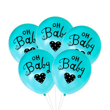 10inch Oh Baby Balloon Baby Shower Birthday Party Decoration Latex Balloons Happy Birthday Balloon Party Supplies Baby Balloons 100pcs 10inch latex balloon macaron color ins style for wedding decoration balloons birthday party baby shower party supplies