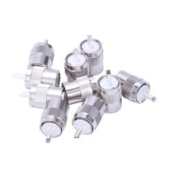 10 sztuk złącze UHF męski PL259 wtyk lutowniczy RG8 RG213 LMR400 7D FB kabel srebrny w Złącza od Lampy i oświetlenie na
