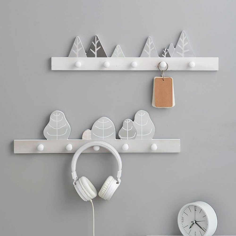 Wood Shelves Coat Rack Wall Hanging