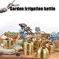 1 шт. креативный чайник из нержавеющей стали с длинным горшком для сада и дома