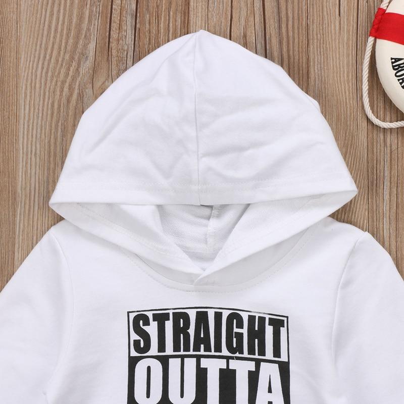 Pudcoco US Stock Newborn KIds Baby Boy Girl Clothes Hoodie Tops Hooded Sweatshirt Casual Outdoor Sport 3