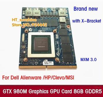 جديد الأصلي GTX 980 متر بطاقة جرافيكس GTX980M مع X-قوس N16E-GX-A1 8 جيجابايت GDDR5 MXM لديل Alienware MSI HP عبر DHL/EMS الحرة