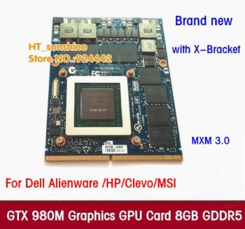 цена на New Original GTX 980M Graphics Card GTX980M with X-Bracket N16E-GX-A1 8GB GDDR5 MXM For Dell Alienware MSI HP via free DHL/EMS