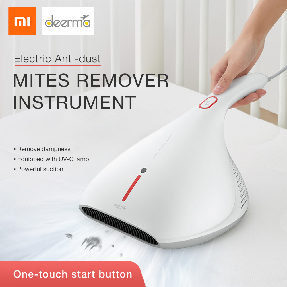 Xiaomi Deerma acariens aspirateur à main lumière et choc thermique lampe UV supprimer acariens fort aspirateur Instrument 13kPa