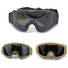 цена на Military Gear Airsoft Tactical Goggles USMC Tactical Sunglasses Glasses Army Airsoft Paintball Goggles 3 Lens