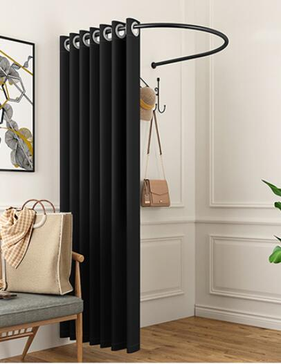 U-shaped Fitting Bar Curtain Shop Clothing Store Fitting Room Curtain Changing Room