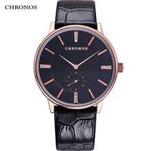 Chronos Модные Простые парные часы для мужчин и женщин водонепроницаемые