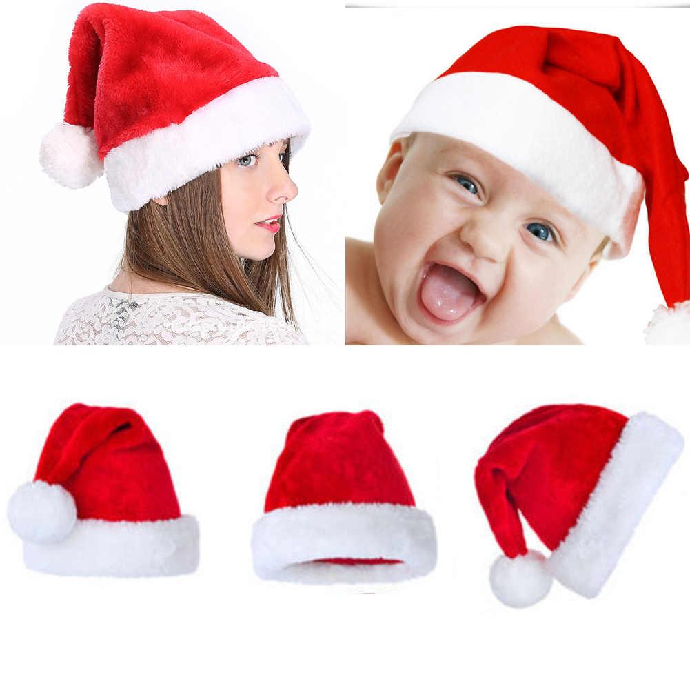 2020 sombreros de Navidad Santa Claus sombreros de cosplay familia juego mujeres hombres niños bebé Santa sombreros regalo de Navidad