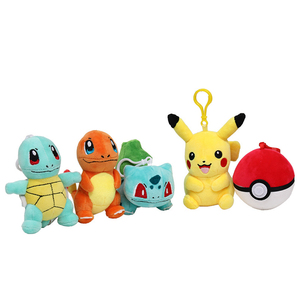 cute pikachued Squirtle Bulbasaur Charmander Snorlax ball Plush Doll Keychain Pokemoned Pendant Stuffed toy Gifts for children