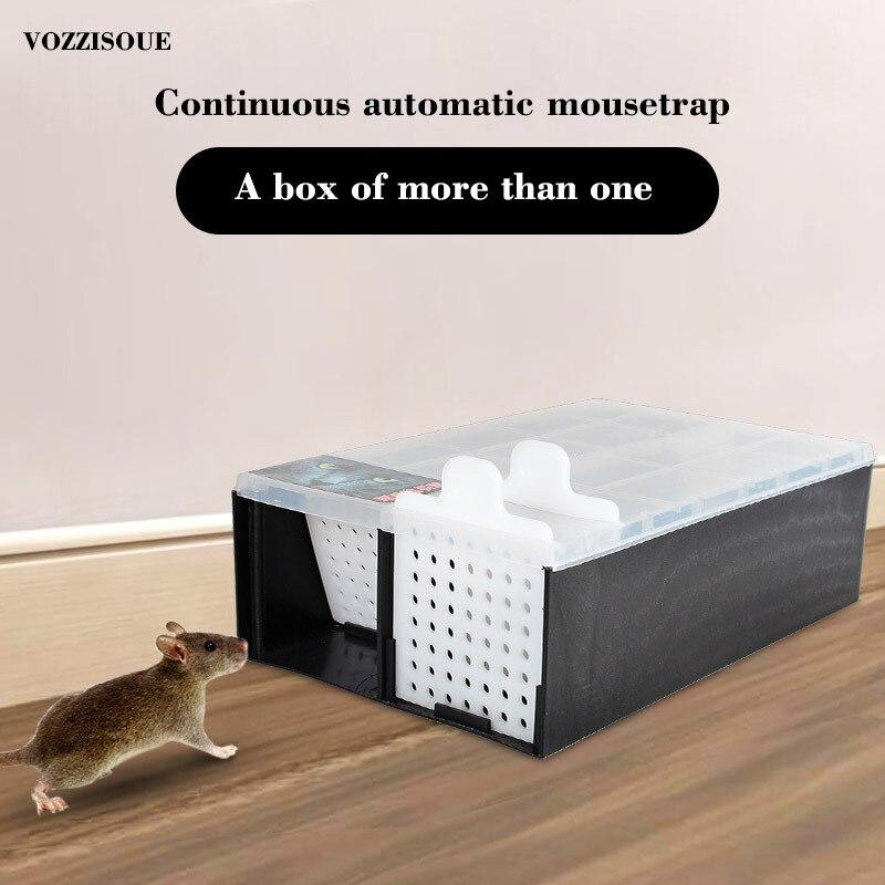 New High Effect Mouse Trap Automatic Continuous Mousetrap Reusable Catch Rat Traps Catcher Rat Killer Mice Rodent Cage Household