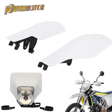 White Motorcycle Handguards Hand Guard H4 Headlight Headlamp For Husqvarna FC TC FE TE FX TX 2016 2017 Enduro Dirt Bike