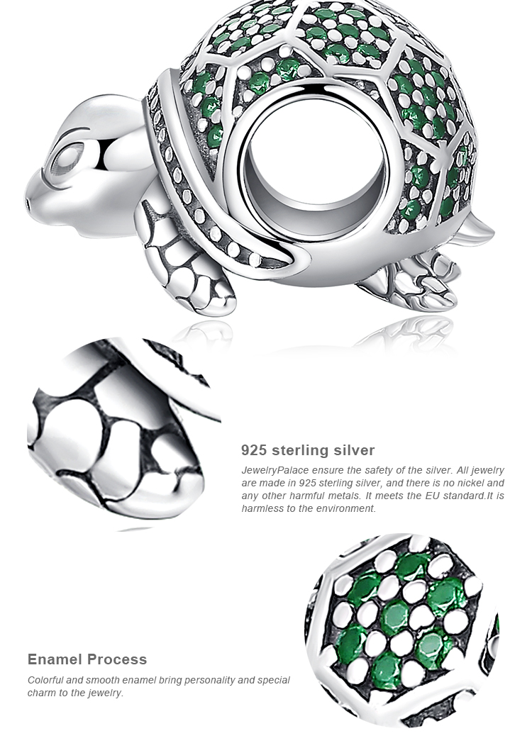 H4e4a8d712fc14dada8cc47e96812407dS JewelryPalace Turtle 925 Sterling Silver Beads Charms Silver 925 Original For Bracelet Silver 925 original Beads Jewelry Making