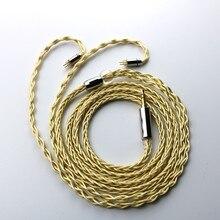 8 rdzeni złoto srebro i miedź mix pleciony ulepszony kabel do słuchawek MMCX 0.78mm z wtyczką 2.5/3.5/ 4.4mm do KB06 HI7 ZSX BL03