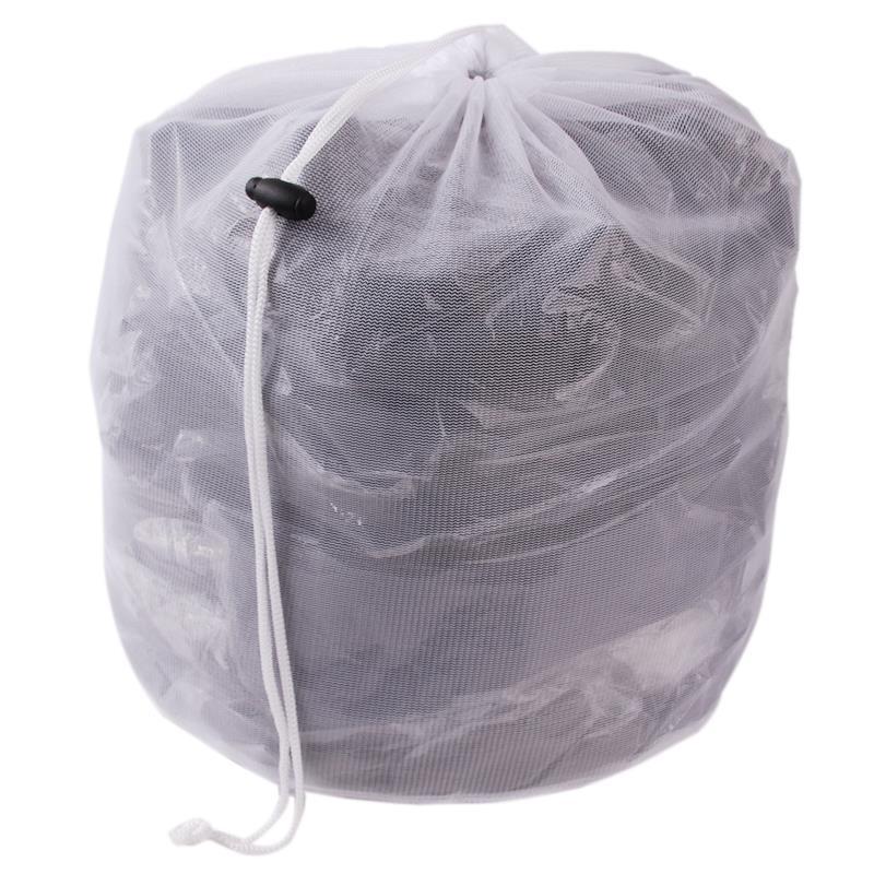 Laundry Bag Clothes Storage Baskets Washing Machine Laundry Bra Aid Lingerie Mesh Net Wash Bag Draw Cord Neatening