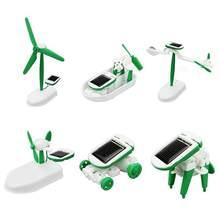 Novo desenvolvimento inteligente diy criativo de alta tecnologia brinquedo seis-em-um multifunções conjunto solar experimento montado brinquedo scienc y2e3