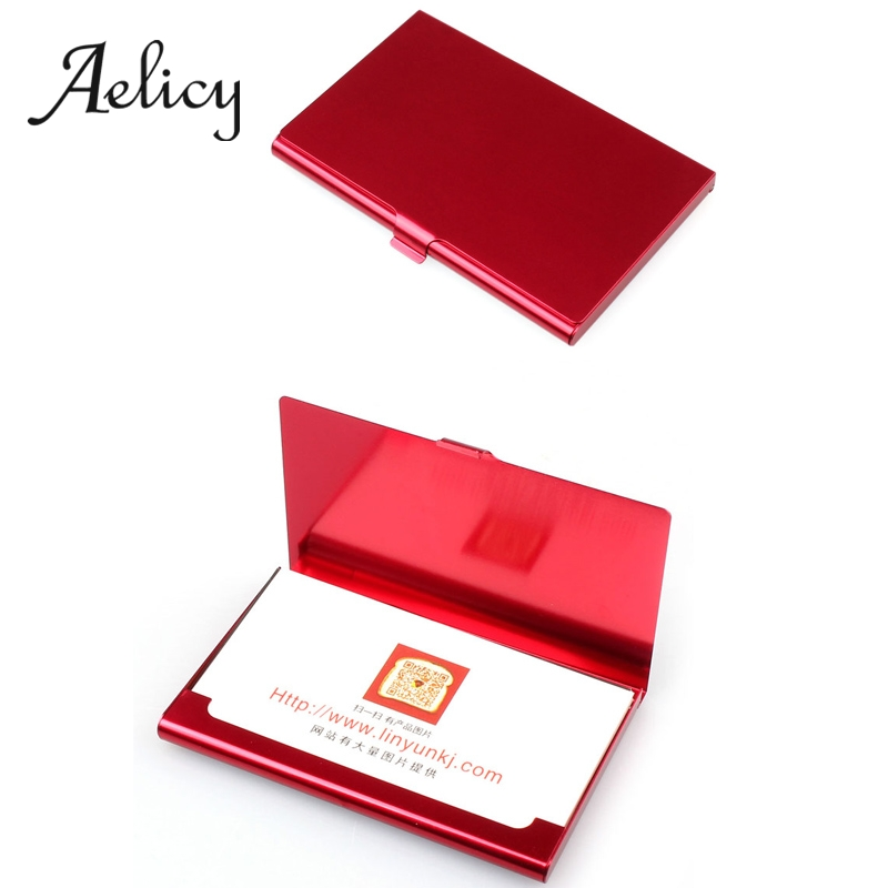 Aelicy Metal Wallet Cover Business-Card-Holder Credit Stainless-Steel Creative Box Men title=