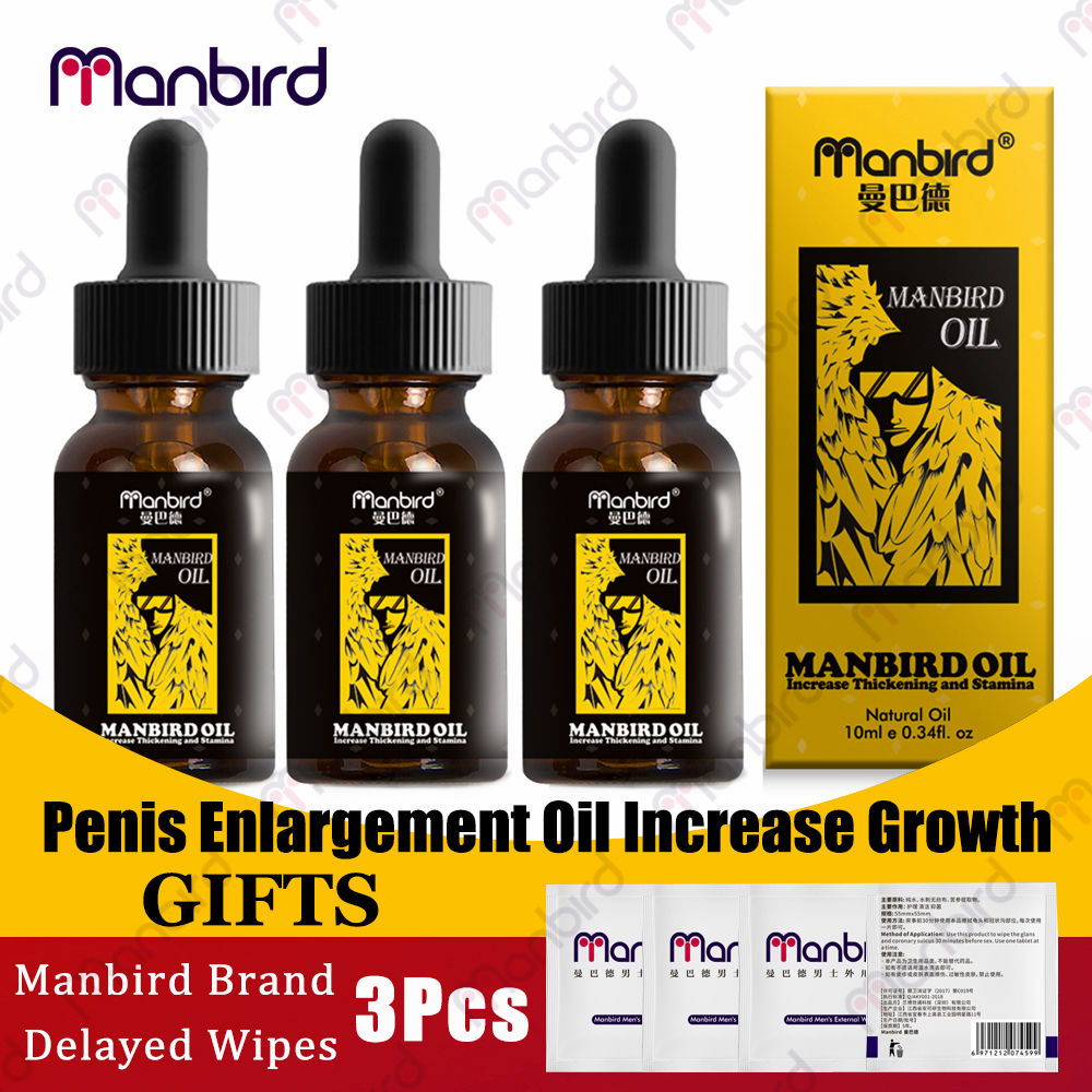 3Pcs Oils Enhance Enlarge Health Care Erection Penis Thickening Growth Big Dick Men Cock Liquid Erection Enhance Enlargement Oil image