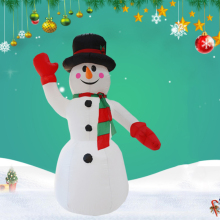 Christmas Inflatable Snowman Festival decoration Blow Up Costume Santa LED Lights snowman costume patio yard Xmas Snowman lighting inflatable shiny snowman for christmas decoration