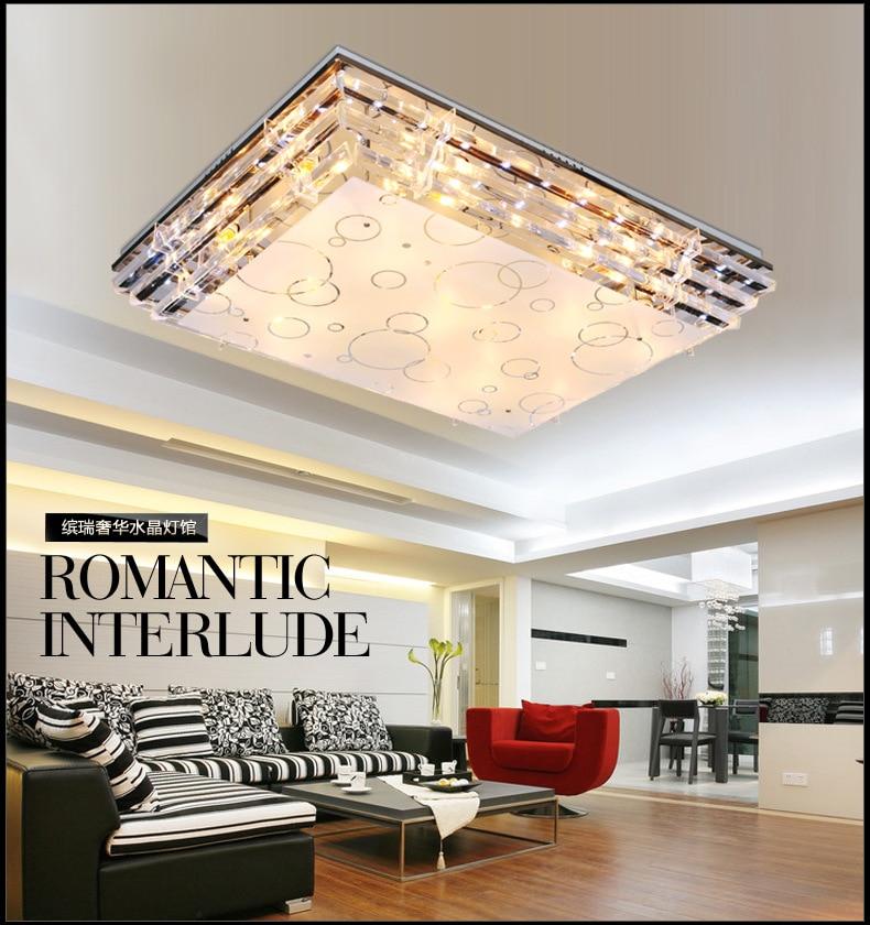 Manufacturers Direct Selling LED Crystal Living Room Rectangular Colorful Slow Low Voltage Bedroom Lamp Modern Minimalist Restau
