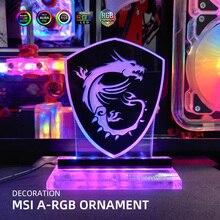 MSI Figure A-RGB Magic Dragon Decoration 5V3Pin LED Acrylic Lighting Panel Rainbow Lighting PC Water Cooling Custom MOD