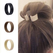 Novo dobrável anel de cabelo elástico silicone feminino meninas titular rabo de cavalo fixo estiramento laços de cabelo multifunções o acessórios de cabelo