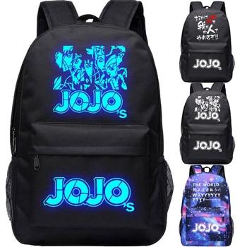 JoJo's Bizarre Adventure Giorno Giovanna  Bruno Bucciarati Cosplay Anime Accessory Backpack School Bag Oxford Cloth Adult Men Ms