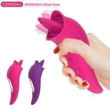 Clit Licking wibrator obciąganie język wibracyjny sutek masaż seks oralny stymulator łechtaczki pochwy orgazm Sex zabawki dla kobiet