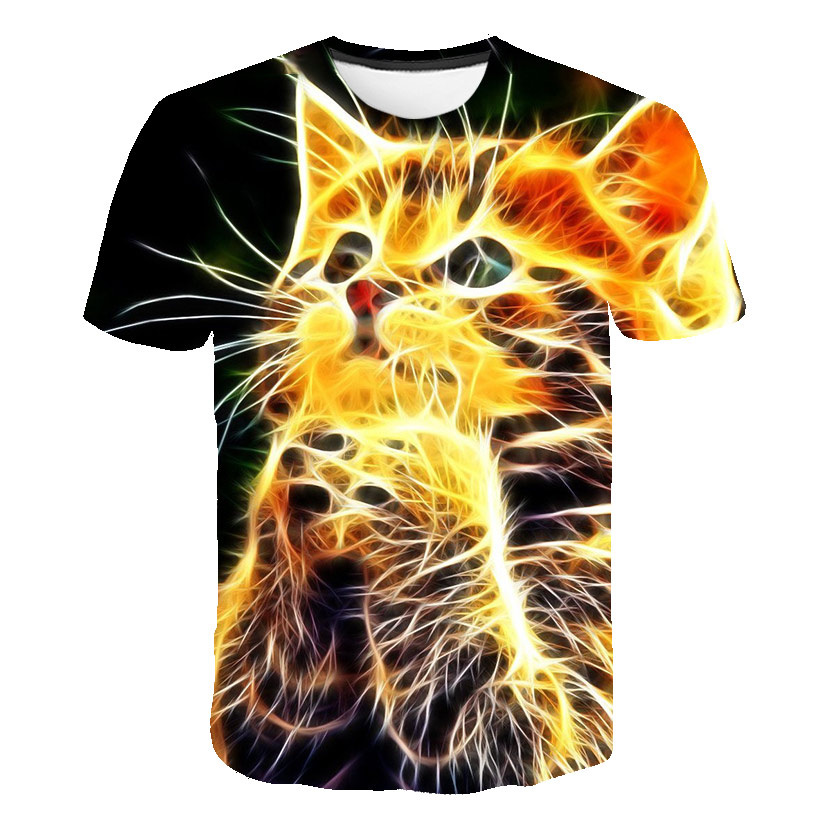 2020 New Summer 3d HD Animal Printed Cool T-shirt Men With Bts T Shirt Short-sleeved Animal Pattern For Casual Sports O-neck Tee