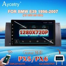 PX6 Android 10 1 Dinรถวิทยุเครื่องเล่นมัลติมีเดียAutoRadio AudioสำหรับBMW/E39/X5/E53อัตโนมัติสเตอริโอGps Navigation Head Unit DSP IPS