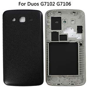 Image 5 - For Samsung Galaxy Grand 2 II Duos G7102 G7106 Housing Middle frame Battery Back Cover+Touch Screen Digitizer Panel