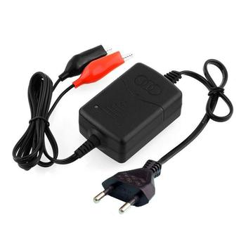 12V 1.30A European Standard Car Truck Motorcycle ATV Smart Compact Battery Charger Tender Maintainer EU Plug Charging Unit image
