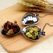 100pcs/lot Stainless Steel Creative Heart Shaped Tea Infuser Spoon Strainer Tea Tool