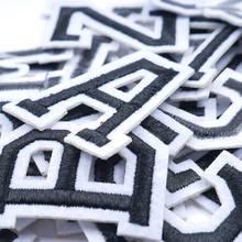 Patch brodé fer à repasser 26 lettres anglaises, accessoires de couture, autocollants appliqués, patchs de nom pour vêtements, sac, pantalon Sewin, A-Z