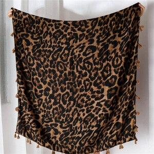 Image 5 - Foulard léopard pour femmes, Cheetah grande taille, imprimé Animal, châle, écharpe légère