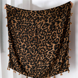 Image 5 - Leopard Scarf for Women Oversized Cheetah Animal Print Wrap Shawl Lightweight Scarves