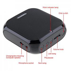 Image 4 - Rolton K400 Loa Di Động Âm Thanh Tay Lửng Khuếch Đại Giọng Nói Loa Micro THẮT NƠ EO Clip Hỗ Trợ Đài FM TF MP3