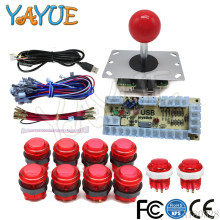 Take DIY Arcade Joystick Button Kit Parts USB Encoder To PC Controls Games + 10 x 5V led Illuminated Arcade Buttons + 5Pin Joystick online
