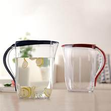 2L Transparent Plastic Cold Water Kettle High Capacity Pitcher Juice Pot For Storing And Serving Beverage (Random Color)(China)