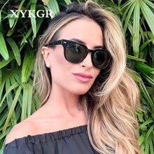 XYKGR2020 New Cat Eye Sunglasses Lady Trend Brand Designer Black Wild Glasses UV
